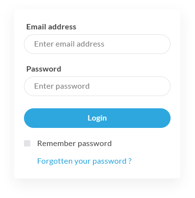 Screenshot: Login page